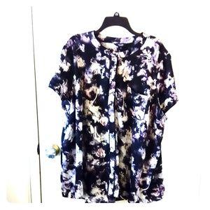 Simply Vera Vera Wang abstract floral blouse